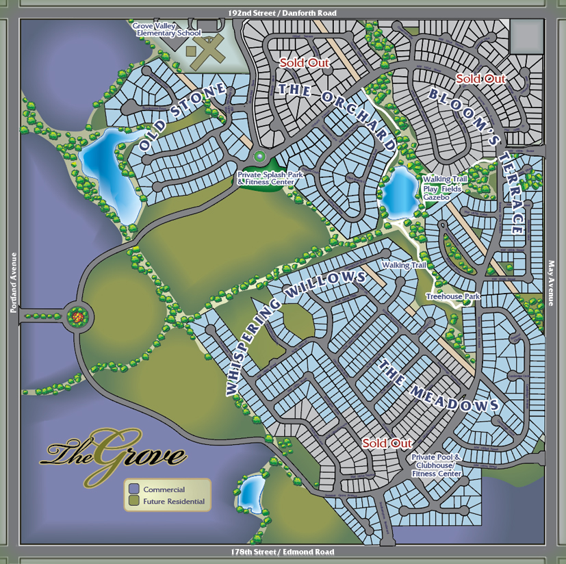 Master plan the grove a master planned community for Build on your lot oklahoma